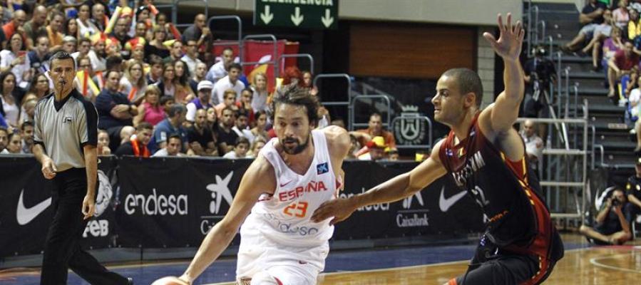 Sergio Llull en el partido de España contra Bélgica