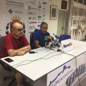 Galiana, en la sala de prensa del estadio Francisco Artés Carrasco.
