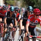 Grupo de ciclistas fugados durante una etapa de la Vuelta a España