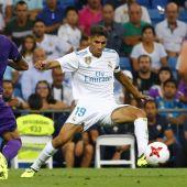 El jugador del Real Madrid, Achraf.