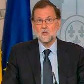El presidente del Gobierno, Mariano Rajoy, durante una comparecencia tras el Consejo de Ministros