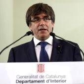 El presidente del Govern de Cataluña, Carles Puigdemont