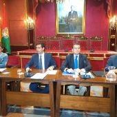 Antonio Sanz y Paco Cuenca en la junta local de seguridad ante la amenaza yihadista en Granada