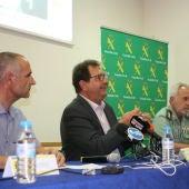 Acto de presentación del plan para proteger los cultivos de uva, con la presencia del subdelegado del Gobierno en la provincia de Alicante, José Miguel Sava.