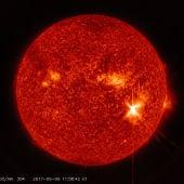 Como afectara a la Tierra la mayor llamarada solar de la decada