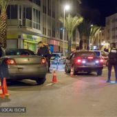 Control de alcoholemia de la Policía Local en Elche.