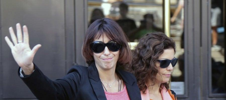 Juana Rivas a su salida de los juzgados de Granada