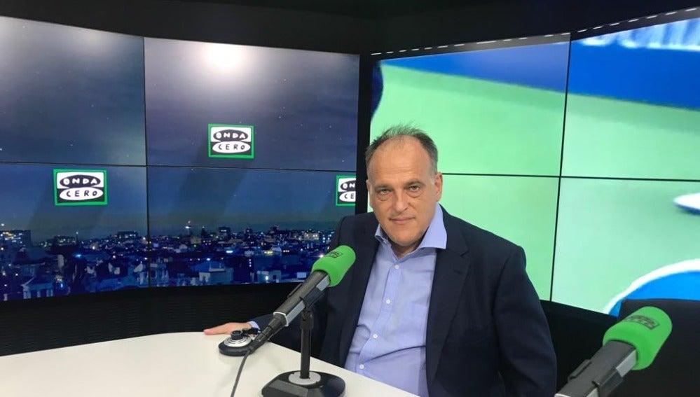 El presidente de la LFP, Javier Tebas, en El Transistor.