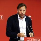 El portavoz del PSOE, Óscar Puente