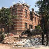 Edificios dañados por el terremoto
