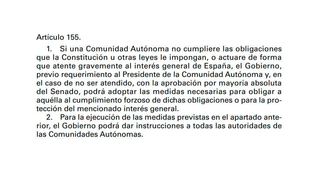 Artículo 155 de la Constitución Española