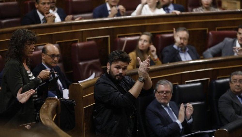 Gabriel Rufián en el Congreso de los Diputados