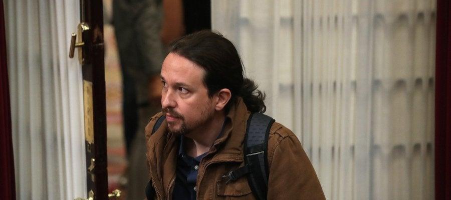 El líder de Unidos Podemos, Pablo Iglesias