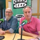 Giovanni Papi y Miguel Angel González de la Asociación de Ceramistas y Alfareros de León