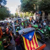 Marchas de tractores en Cataluña