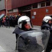 La Policía Nacional en una manifestación en Cataluña