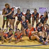 Plantilla 2017/18 del equipo femenino del Club Voleibol Elche.