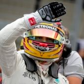 Lewis Hamilton en Suzuka