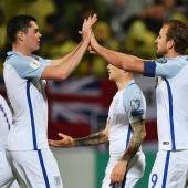 Kane celebra un gol con Keane