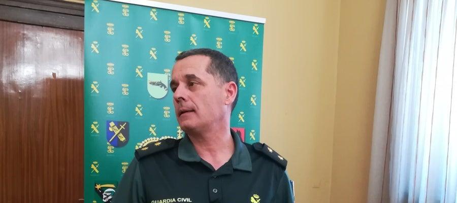 El Teniente Coronel Ramírez, jefe de la Comandancia de la Guardia Civil en Segovia