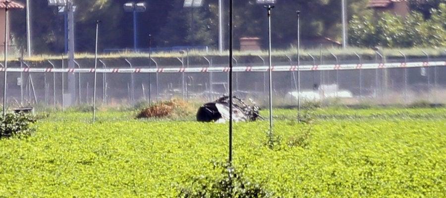 Lugar del accidente del avión en Albacete
