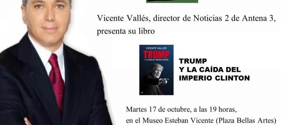 VICENTE VALLÉS ESTARÁ EN SEGOVIA EL MARTES 17 DE OCTUBRE