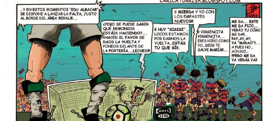 Edu Albacar será titular y su pegada a balón parado puede ser clave en Llagostera.