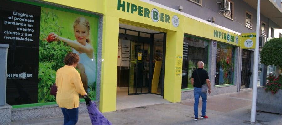 Supermercado Hiperber de la calle Poeta Miguel Hernández de Elche