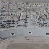 Imagen desde el cielo de la capital de Daesh en Siria