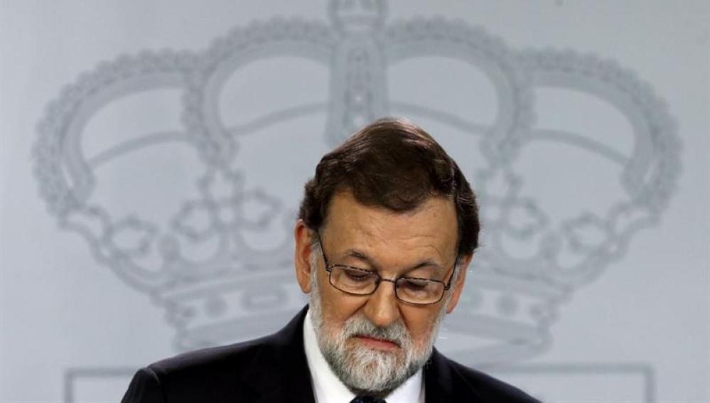 El presidente del gobierno Mariano Rajoy compareció para explicar la aplicación del Artículo 155 de la Constitución