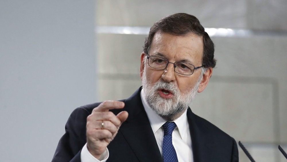 El presidente del gobierno Mariano Rajoy compareció para explicar la aplicación del Artículo 155 de la Costitución
