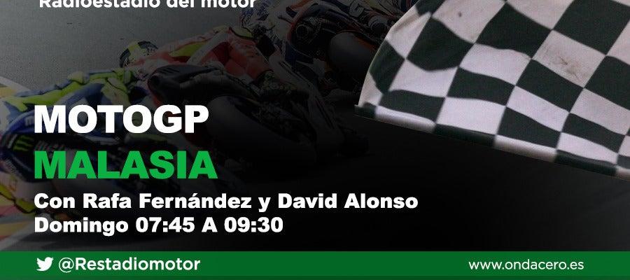 Gran Premio de Malasia de Moto GP en Radioestadio del motor
