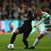 Momento del partido Celtic - PSG