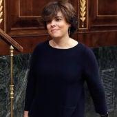 La vicepresidenta del Gobierno, Soraya Sáenz e Santamaría