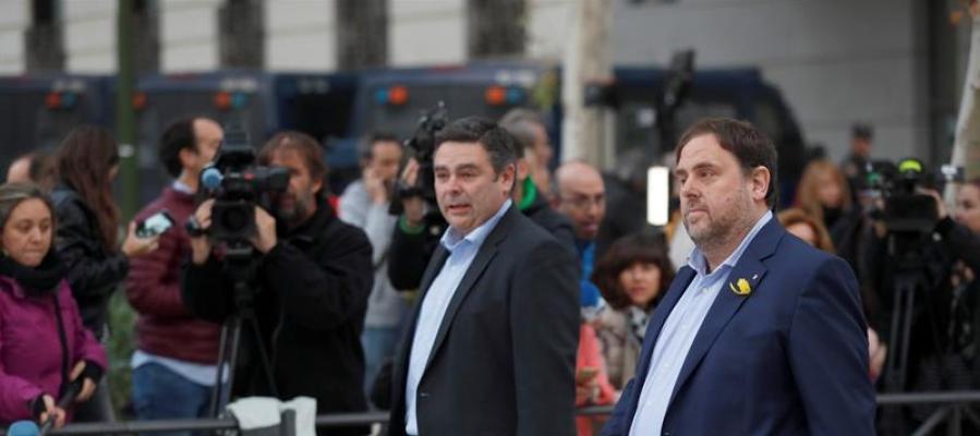 Junqueras, los exconsellers y los `Jordis` piden este viernes al TS su puesta en libertad