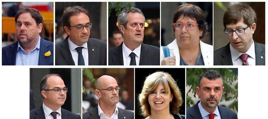 Exmiembros del Govern encarcelados por la juez de la Audiencia Nacional Carmen Lamela