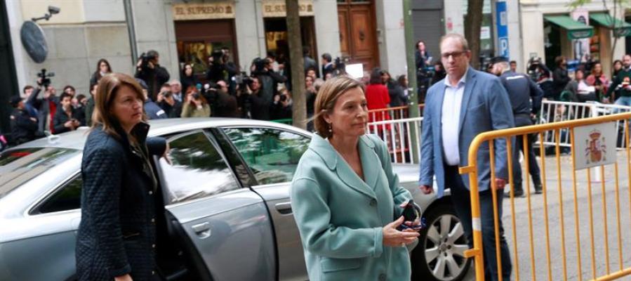 Carme Forcadell, a su llegada a la sede del Tribunal Supremo