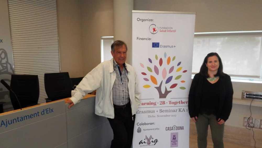 Fernando Vargas, presidente de la Fundación Salud Infantil, y Rosa Gómez, trabajadora social de la entidad