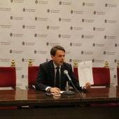Juan Antonio Fuentes (PP) comparece en rueda de prensa