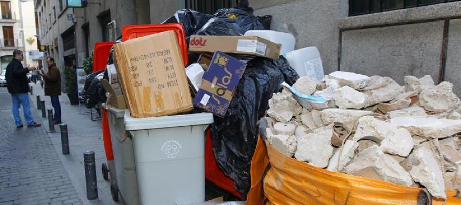 Huelga de recogida de basuras en Madrid