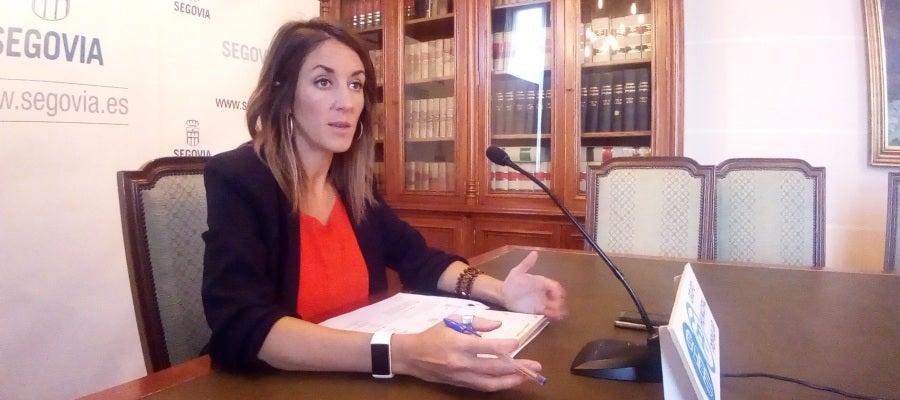 Raquel Fernández, portavoz del PP en el Ayuntamiento de Segovia