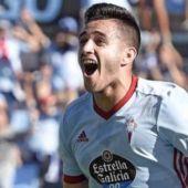 El jugador del Celta, Maxi Gómez.