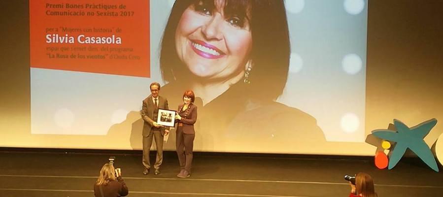Silvia Casasola recoge el premio Buenas Prácticas de Comunicación no Sexista 2017