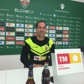 José Luis Acciari, en su rueda de prensa previa a su debut como entrenador del Elche CF.