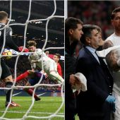 La jugada en la que Lucas rompió la nariz a Sergio Ramos