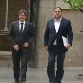 Imagen de archivo de Puigdemont y Junqueras