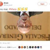 Tuit ofensivo hacia el fiscal general del Estado
