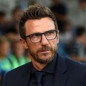 El entrenador de la Roma, Eusebio Di Francesco.
