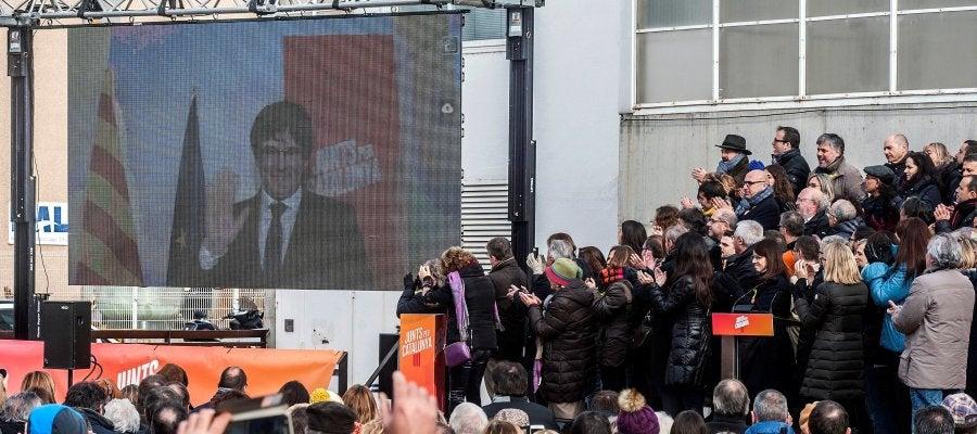 Vista del acto de Junts per Catalunya en el que se ha presentado su candidatura para las elecciones del 21D