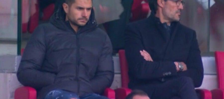 Vitolo presencia el Atlético-Real Sociedad